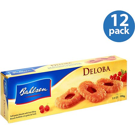 Bahlsen Deloba Puff Pastry Biscuits With Fruit Filling 35 Oz