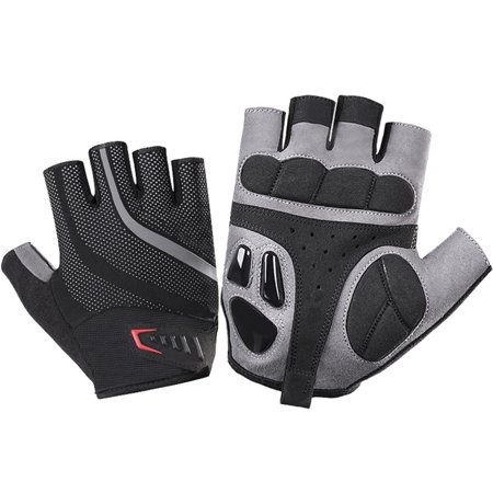 Liquid Silicone Gel Short Finger Riding Bike Gloves Anti-Shock Racing Mitten Motorcycle Cycling Gloves for - Gel Ride Short
