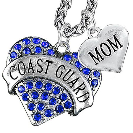 Coast Guard Mom Heart Necklace, Hypoallergenic, WILL NOT IRRITATE Anyone With Sensitive Skin. Safe- Nickel, Lead and Cadmium Free ()