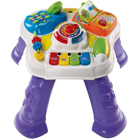 Vtech Sit To Stand Learn Amp Discover Table Walmart Com