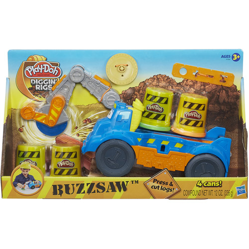 play doh max the cement mixer with diggin 39 rigs buzzsaw play set. Black Bedroom Furniture Sets. Home Design Ideas