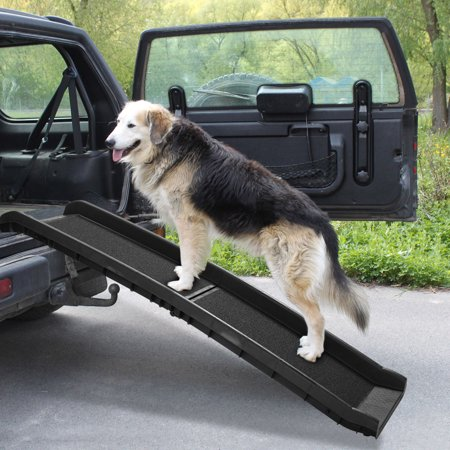 "Jaxpety 62"" Folding Pet Ramp Portable Dog Ladder Pet Non Slip for Travel Gear Vehicle Car Truck"