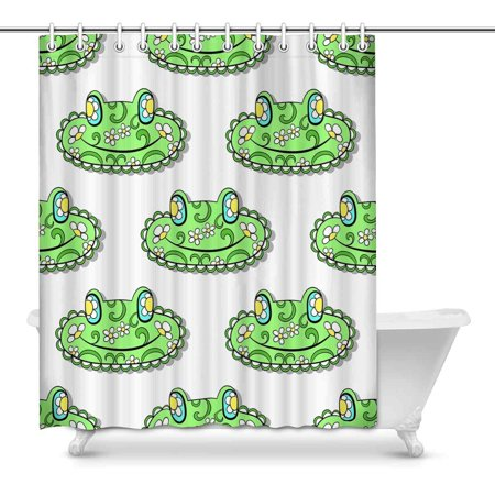 POP Green Frogs Shower Curtain Decor 60x72 inch - image 1 de 1