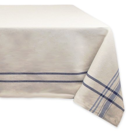 Design Imports Contemporary Rectangle French Stripe Kitchen Tablecloth, 84