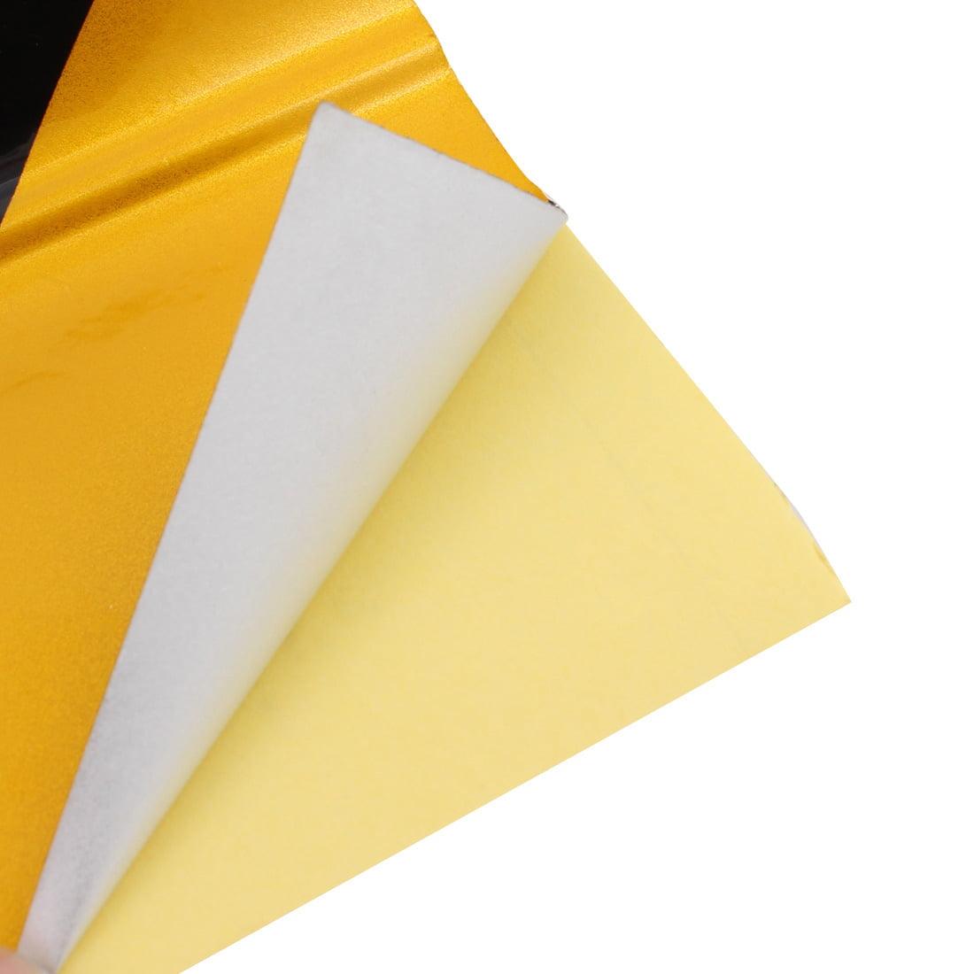 15cm x 2M Single Sided Adhesive Reflective  Warning Tape Tilt Black Yellow - image 1 of 3