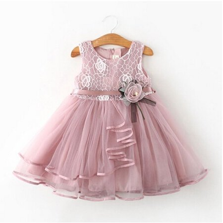 Tutu Dress For Toddlers (Toddler Kids Baby Girl Floral Sleeveless Dress Princess Pageant Wedding Lace Tutu)
