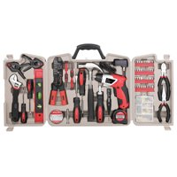 161 Piece Household Tool Kit with Powerful Rechargeable Lithium-Ion Cordless Screwdriver