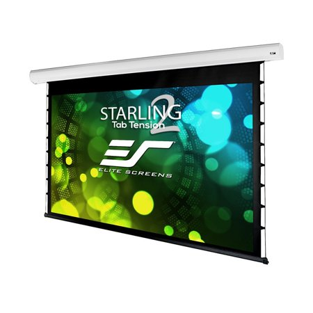 """Elite Screens Starling Tab-Tension 2, 120"""" 16:9, 12"""" Drop, Tensioned Electric Motorized Projector Screen, STT120XWH2-E12"""
