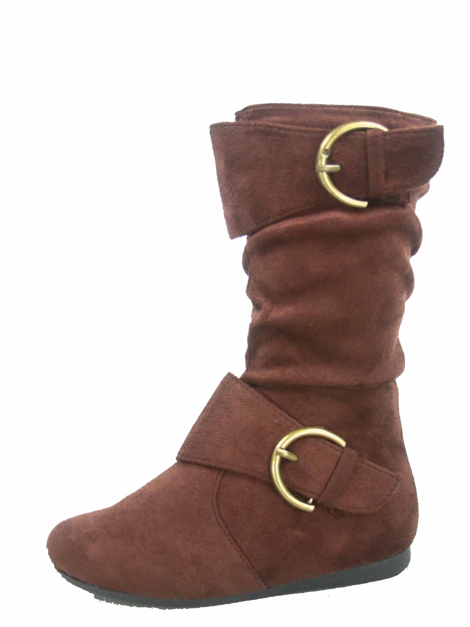TODDLER Black Tan Burgundy Taupe Buckle k lein-70 Girl Suede Boot Slouchy