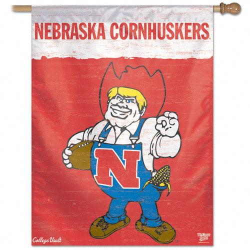 NCAA - Nebraska Cornhuskers Vintage Vertical Flag: 27x37 Banner