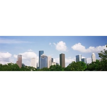 Skyscrapers in a city Houston Texas USA Canvas Art - Panoramic Images (18 x