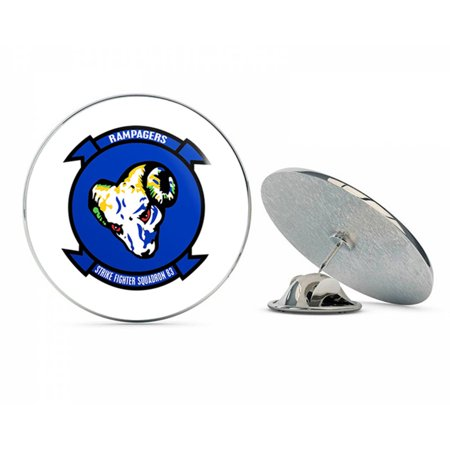 "Strike Fighter Squadron 83 Rampagers Steel Metal 0.75"" Lapel Hat Shirt Pin Tie Tack Pinback"