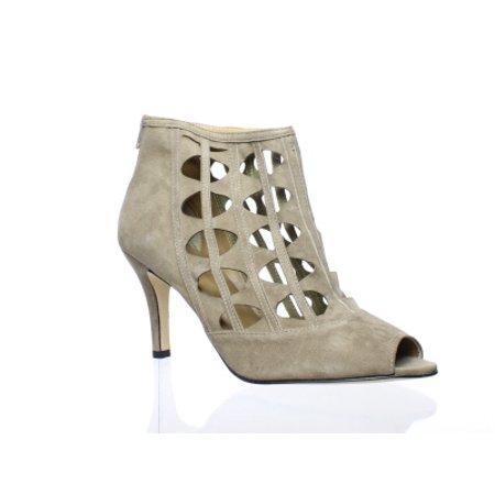 VANELi Womens Petal Truffle Suede Peep Toe Heels Size 10