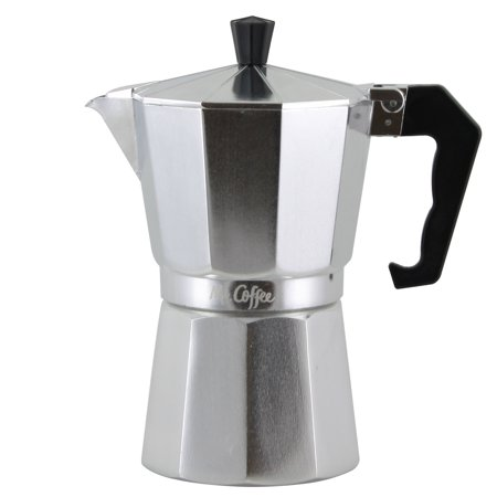 Mr. Coffee Brixia 3 Piece 6 Cup Stove Top Expresso Maker