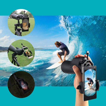 babydream1 Aluminum Alloy Telescope Phone Camera Clamp Clip Monocular Binocular Phone Bracket Holder Mount - image 2 of 9