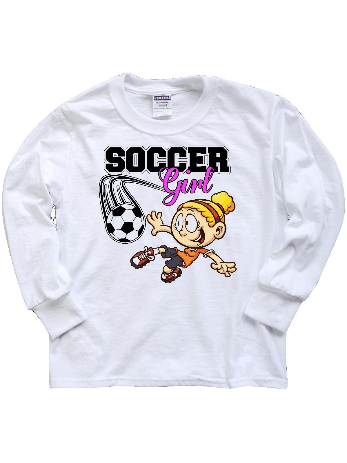 Soccer Girl Youth Long Sleeve T-Shirt