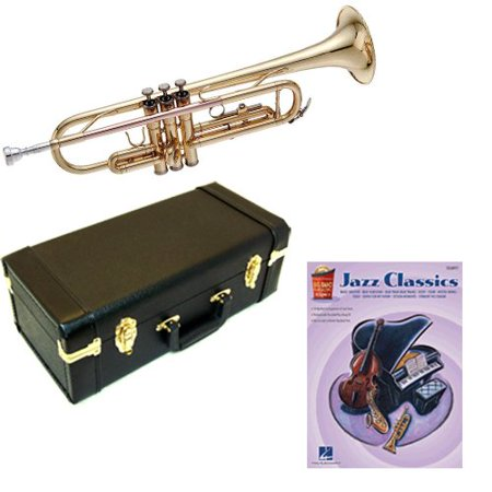 Jazz Classics Bb Student Trumpet Pack - Includes Trumpet w/Case &  Accessories & Jazz Classics Play Along Book