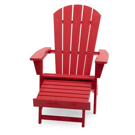 Belham Living Hensley Lake Resin Oversized Adirondack Chair with Pullout Ottoman ()