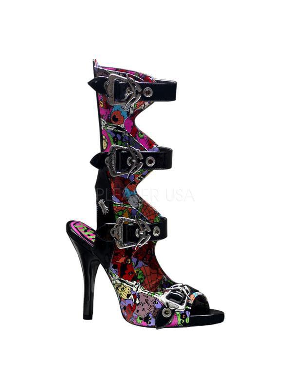 ZOM102/B Demonia Screen Prints Shoes BLACK Size: 9