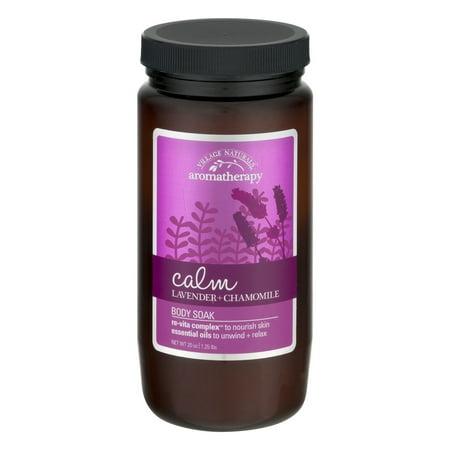Village Naturals Aromatherapy Body Soak Calm Lavender + Chamomile, 20.0 OZ