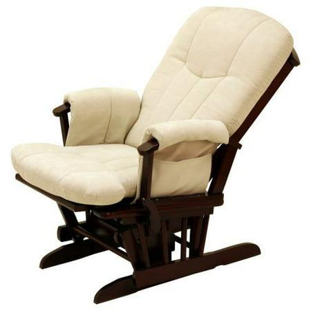 Storkcraft deluxe reclining glider rocker cherry beige for Stork craft glider reviews