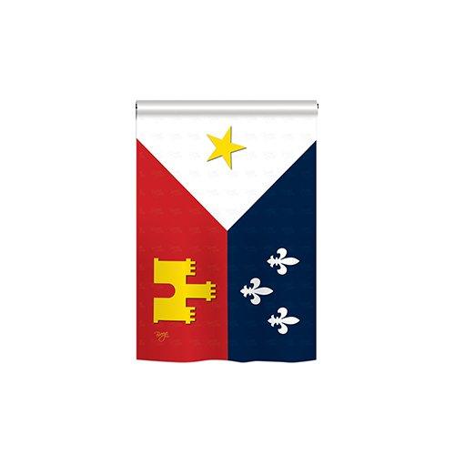 Breeze Decor Acadiana 2-Sided Vertical Flag