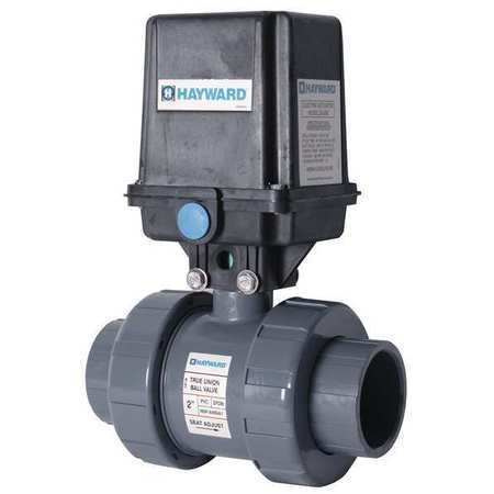HAYWARD Electronic Ball Valve,PVC,1-1/2 In.