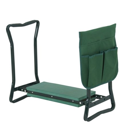 Zeny Foldable Garden Kneeler Gardener Kneeling and Seat W/ Bonus Tool Pouch Portable Stool EVA Pad