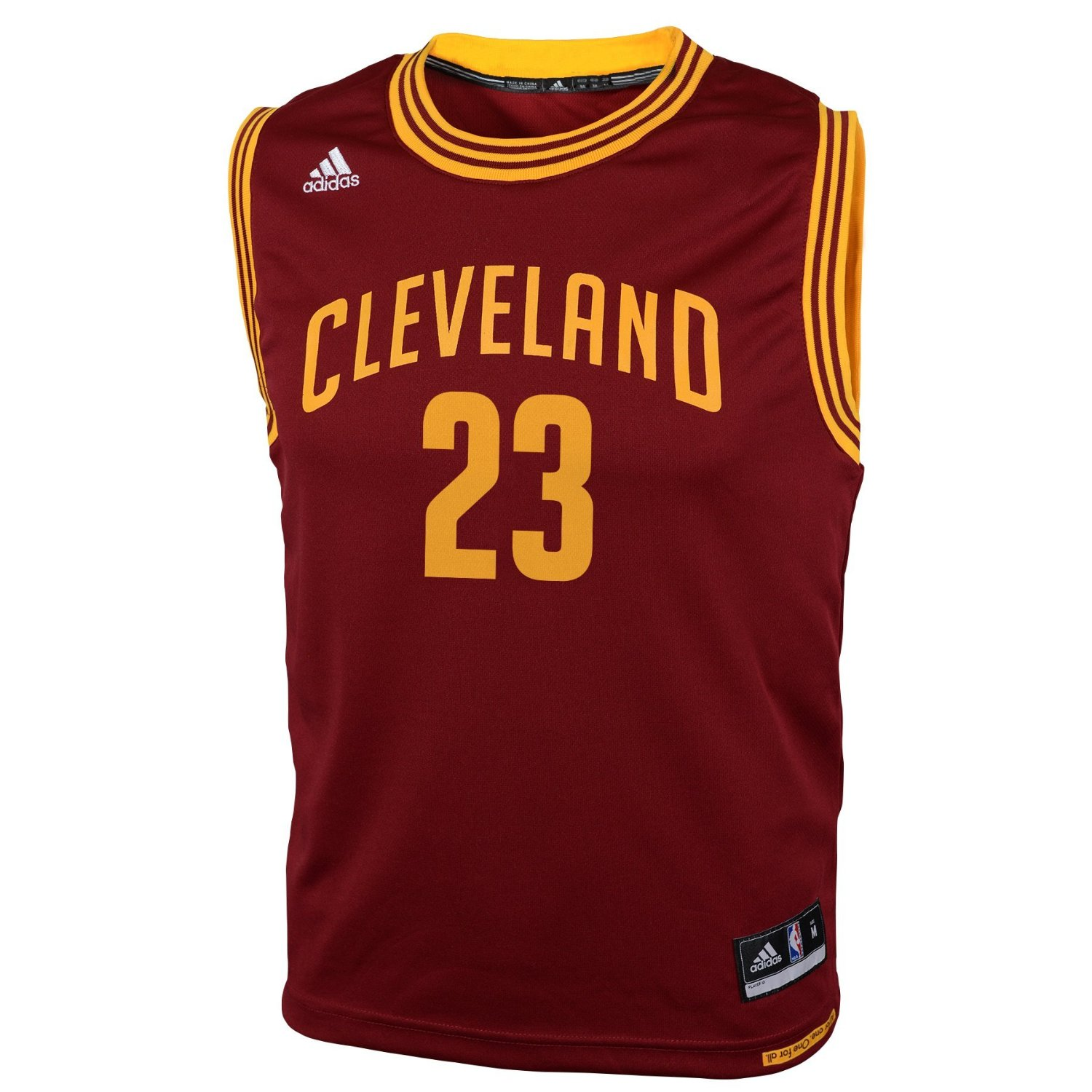 NBA Cleveland Cavaliers Youth Boys 8-20 Replica Road Jersey, James # 23, Small