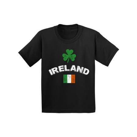 Awkward Styles St Patrick Day Shirt Ireland T Shirt for Kids Irish Flag Vintage Kids Shirt Irish Pride St Patrick Shirts Lucky Shamrock Tshirt Irish Clover Gifts for Boys and Girls Irish Shirt Gifts