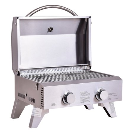 Giantex Propane Gas Grill 2 Burner Stainless Steel BBQ TableTop Perfect For Camping, Picnics or any Outdoor Use Giantex Propane Gas Grill 2 Burner Stainless Steel BBQ TableTop Perfect For Camping, Picnics or any Outdoor Use