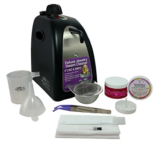 GEMORO 0362 BLACK DIAMOND BRILLIANT SPA BLACK MATTE STEAM JEWELRY CLEANING KIT Includes Sparkle Bright Products Jewelry... by Kona Blue Inc.