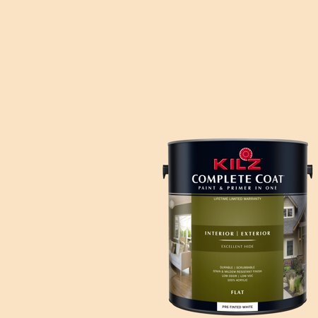 KILZ COMPLETE COAT Interior/Exterior Paint & Primer in One #LD200-02 Walnut Cream