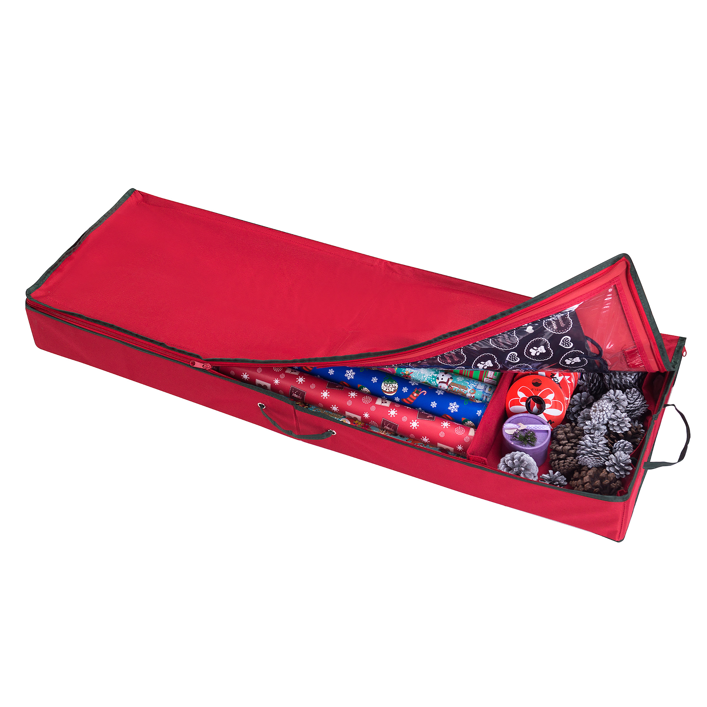 Elf Stor Christmas Storage Organizer for 30 Inch Wrapping Paper, Ribbon and Bows
