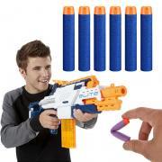 Jeobest Toy Gun Bullet - 10PCS Foam Bullet For Toy Gun - Soft Hollow Hole Head 2.8 x 0.5 inch (7.2 x 1.2cm )Refill Darts Toy Gun Supply MZ (Blue) - Bullet Hole In Head Halloween