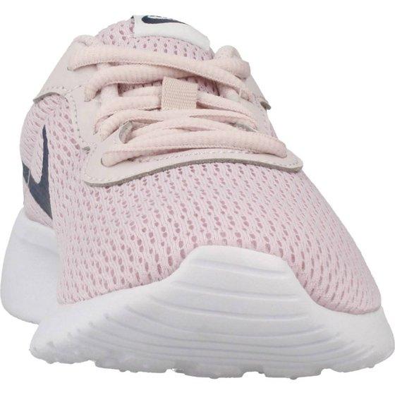 fe5e942fb547 NIKE - Nike Girl s Tanjun Shoe Barely Rose Navy White Size 4 M US -  Walmart.com