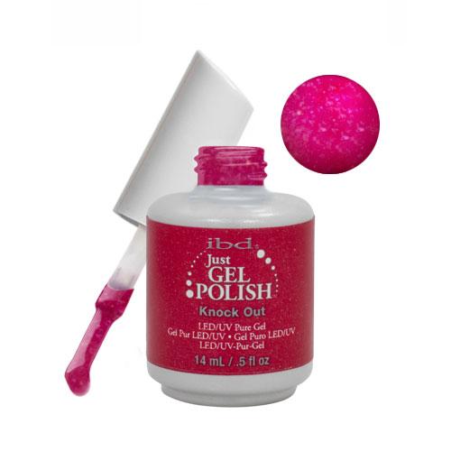 IBD Just Gel 0.5oz Soak Off Nail Polish Red, KNOCK OUT, 56591