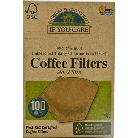 IF YOU CARE Coffee Filter, No.2, Brown