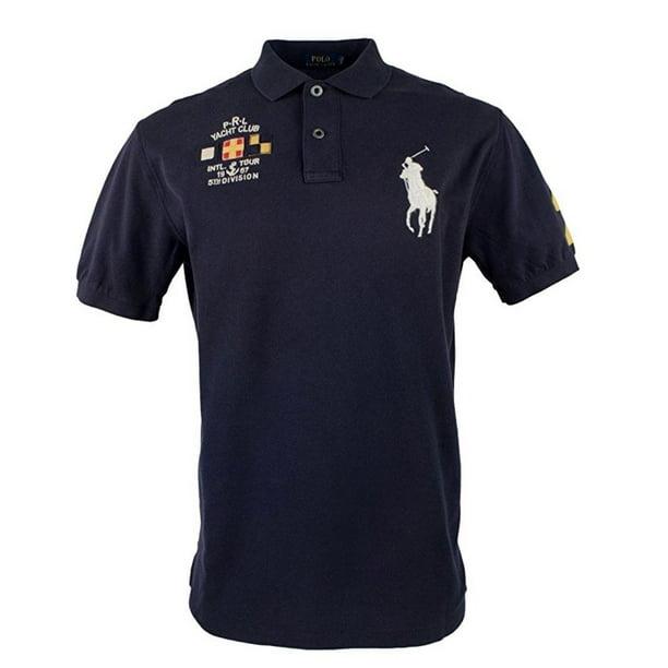 Polo Ralph Lauren Big Pony Men's Yacht Club Big Tall Mesh Polo Shirt