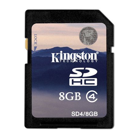 Free 4 Gb Microsd - Kingston  SDC4/8GBCR 8GB microSDHC Class 4 Flash Card