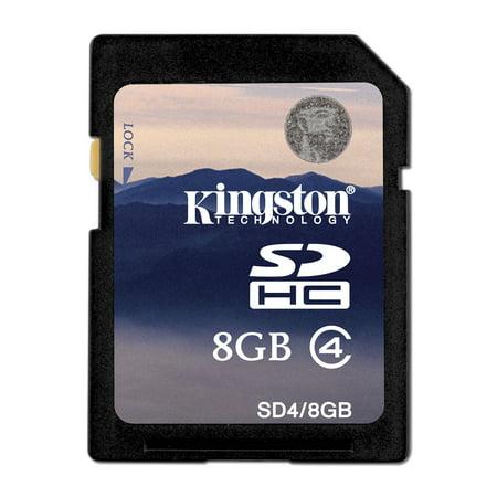 Lexar 4 Gb Microsd - Kingston  SDC4/8GBCR 8GB microSDHC Class 4 Flash Card