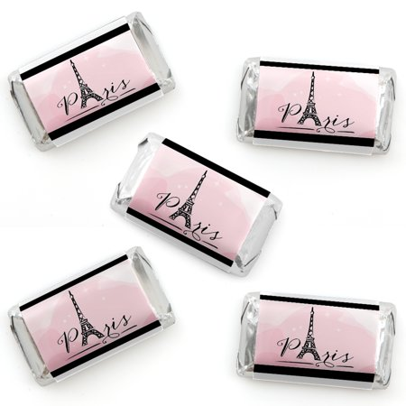 Paris, Ooh La La - Mini Candy Bar Wrapper Stickers - Paris Themed Baby Shower or Birthday Party Small Favors - 40 Count](Toddler Party Themes)