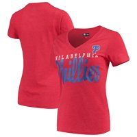 Philadelphia Phillies G-III 4Her by Carl Banks Women's Game Day V-Neck T-Shirt - Red