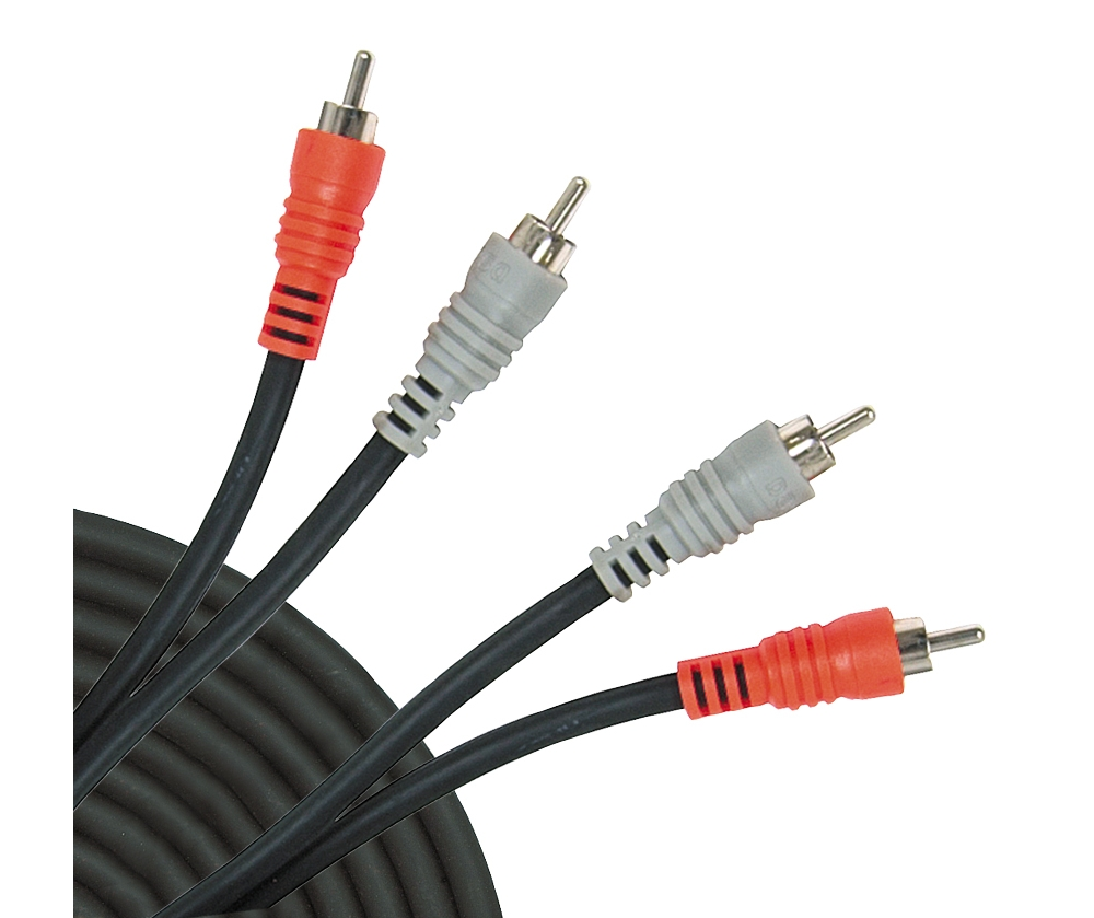Hosa CRA-204 4m Stereo Cable Twin Male RCA Phono to RCA Phono Audio Cable