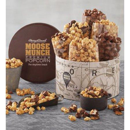 Moose Munch Deluxe Premium Popcorn Tin by Harry & David (6 Bags) - Harry And David Halloween Cookies