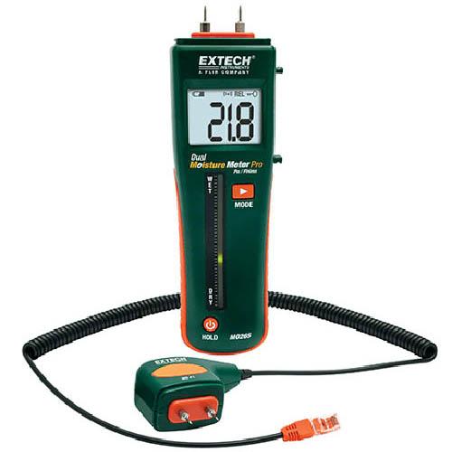 Pin Pinless Moisture Meter, Extech, MO265 by Extech