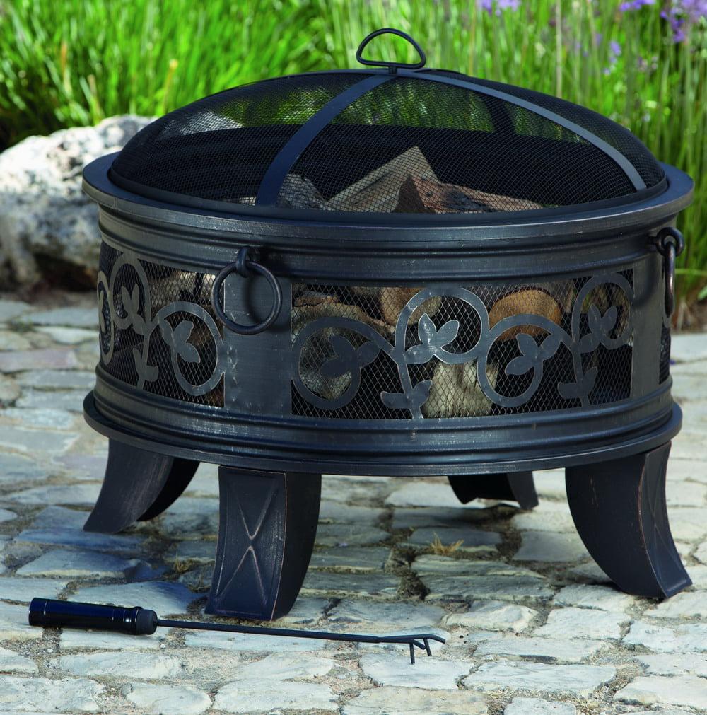 Better Homes & Gardens 10 inch Cauldron Wood Fire Pit, Antique ...