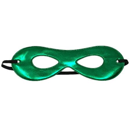 SeasonsTrading Adult Shiny Green Superhero Mask - Costume Party Eye Mask - Green Eye Mask