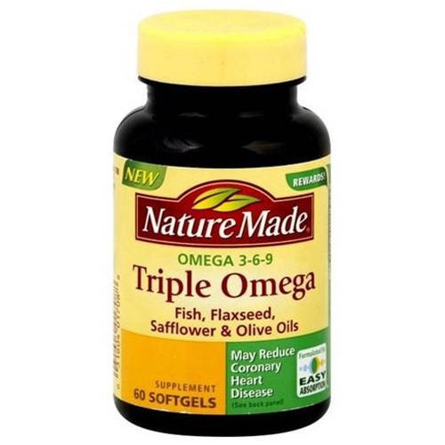 Nature Made Triple Omega 3 6 9 Oil 60ct Pack Of 3 Walmart Com
