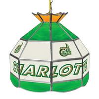 "NCAA North Carolina Charlotte 16"" Stained Glass Tiffany Lamp Light Fixture"
